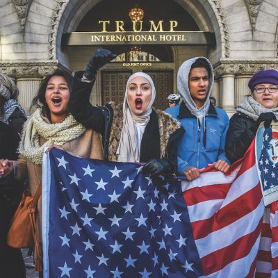 Ahead of US elections, artist group highlights 'devastating impact' of Trump's travel ban three years on